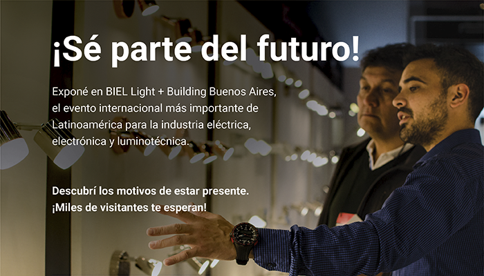 ¡Sé parte del futuro!Exponé en BIEL Light + Building Buenos Aires, el evento internacional más importante de Latinoamérica para la industria eléctrica, electrónica y luminotécnica. Descubrí los motivos de estar presente. ¡Miles de visitantes te esperan!