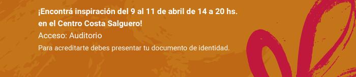 Seguí todas las novedades en Facebook, Twitter e Instagram y participá con nuestro hashtag #Emitex ¡Encontrá inspiración del 9 al 11 de abril de 14 a 20 hs. en el Centro Costa Salguero! Acceso: Auditorio. Para acreditarte debes presentar tu documento de identidad.